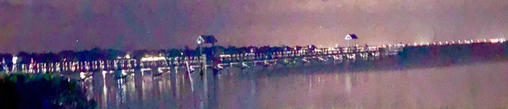Oldsmar Pier at night